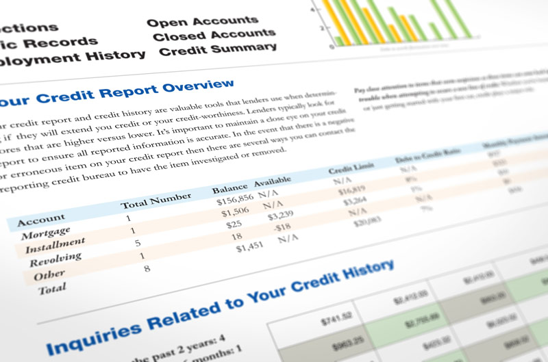 Credit report document